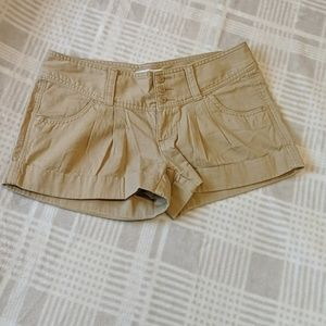 Express Khaki Colored Pleated Shorts
